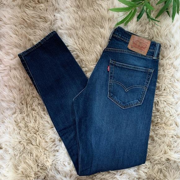 LEVI's, 502 Slim Fit Medium Dark Wash Jeans